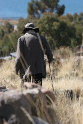 Berger près du lac Titicaca