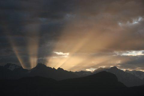 Lever de soleil depuis le refuge des Dents du Midi